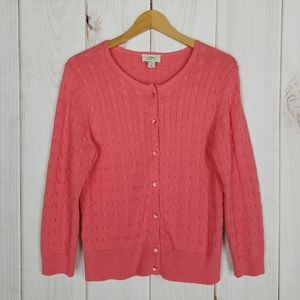 Ann Taylor LOFT | Coral Cardigan Button Sweater